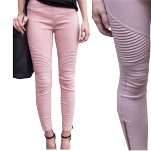Mauve Pink Moto Jeggings Motto Skinny Jean Legging
